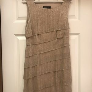 Gold and Silver Metallic Dress